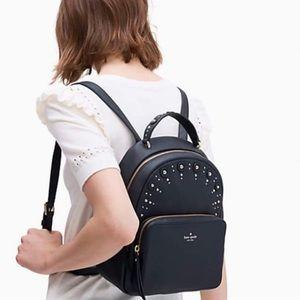 Kate Spade Studded Mini Nicole Black Backpack